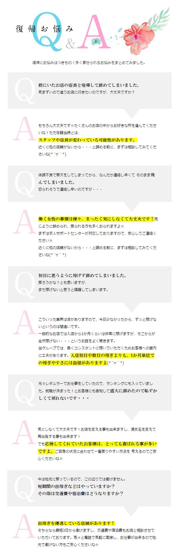 復帰お悩みQ&A
