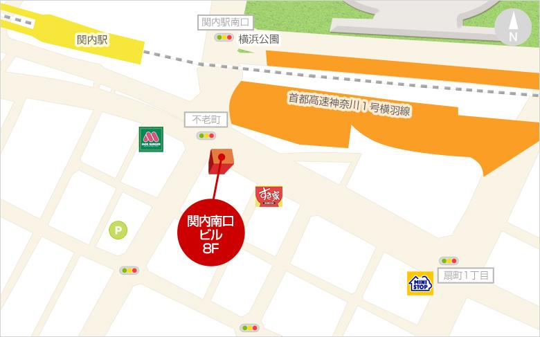 横浜店面接場所地図